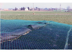 Filet de protection silo tricoté vert 10x12m