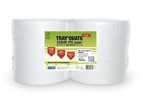 Papier ouate essuyage trayons (x2)