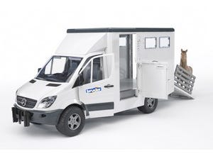 Camion transport animal Mercedes Benz+cheval