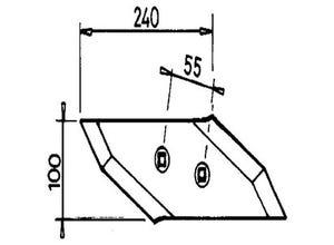 Pointe gauche S2W 3365541 ad. LEMKEN