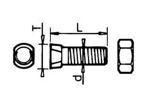 Boulon tête conique 12x34 KVERNELAND