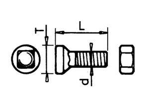 Boulon tête conique 12x38 KVE/GOIZIN