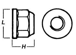 Ecrou frein à embase 14x150 10.9 brut