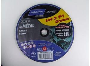 Lot 3+1 meules Blue Pro métal 230