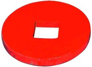 Plaque ext bombée D.150x15 carré 41