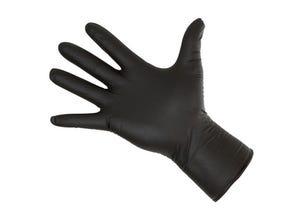 Gants nitrile noir usage unique x50