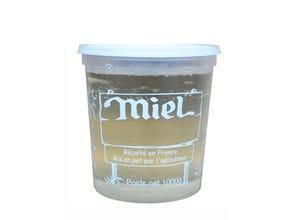 Pot plastique transparent blanc Nicot 1 kg