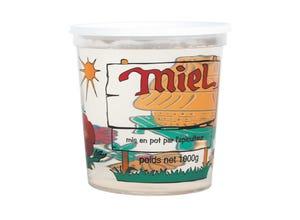Pot plastique transparent couleurs Nicot 1 kg