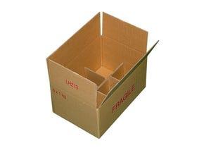 Carton pour 6 pots verre TO82
