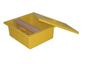 Boîte à cadres (10 1/2 cadres Dadant)