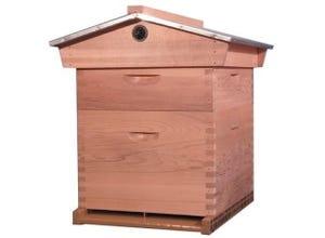 Red Cedar : ruche Dadant 10 c. toit chalet