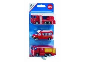 Set 3 véhicules Sapeurs-Pompiers