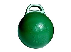 Balle à jouer avec poignée verte