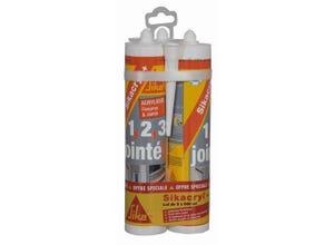 3 cartouches mastic Sikacryl Plus 300 ml