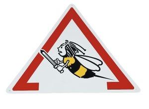 Pancarte Attention abeilles - Triangle