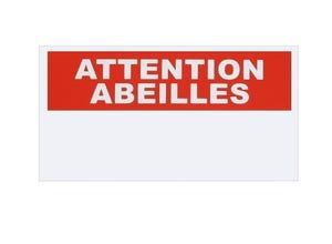 Pancarte Attention abeilles - Rectangle