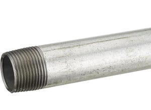 Tube fer galva L10 cm M26x34
