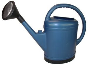 Arrosoir bleu ovale extra fort 13L avec pomme