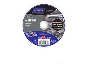 Disque à tronçonner métal/inox 230x3,2x22,2