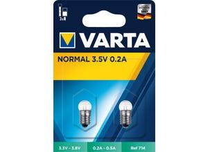 Ampoule sphérique culot à vis 3,5V 0,2A