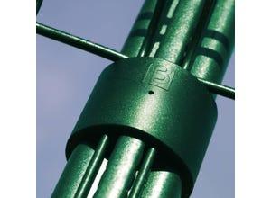 Colliers pour poteau Bekafor vert (x6)