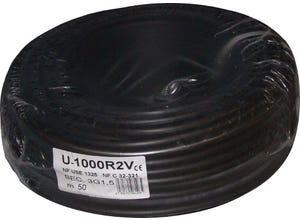 Câble R02V 3G 1,5mm noir 50M