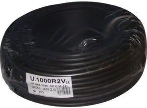 Câble R02V 3G 2,5mm noir 50M