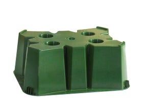 Socle récupérateur à eau 350L vert