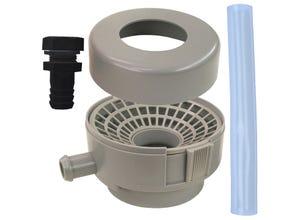 Kit raccord récupérateur eau gris