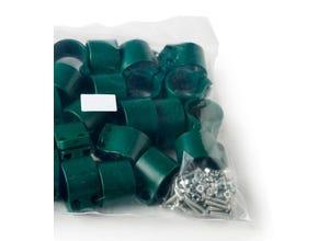 Colliers pour poteau Bekafor vert (x25)