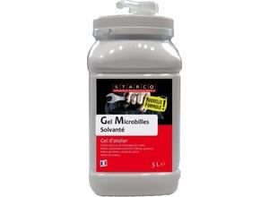 Gel microbilles solvanté