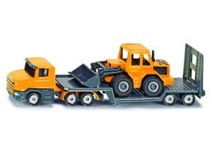 Camion surbaissé avec chargeur frontale