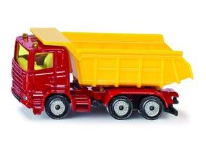 Camion benne rouge et jaune modèle réduit