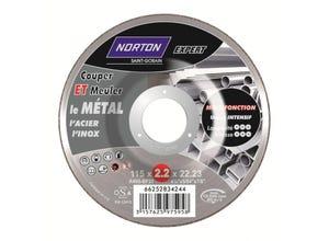 Disque à tronçonner/ébarber le métal 115x2,2x22,2