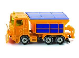 Camion chasse-neige jaune modèle réduit
