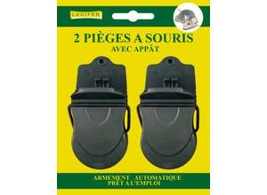 2 pièges à souris pré appatés - armenent facile LUCIFER