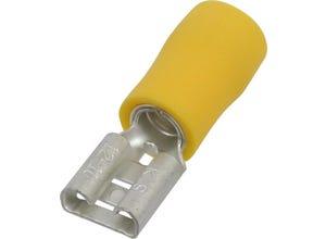 Cosse plate femelle isolée 6,3x0,8mm² - x10 - jaune