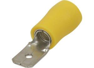 Cosse plate mâle isolée 6,3x0,8mm - M6 - x10 - jaune