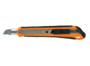 Cutter bi-matière à lame rétractable 9 mm