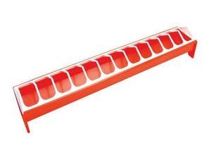 Mangeoire PVC pour volaille 12x75cm
