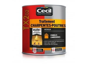 Traitement Charpentes - Poutres TX 202 - 5L