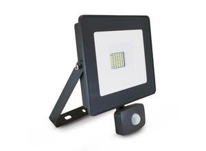 Projecteur LED gris SMD + détecteur 30W 6000K