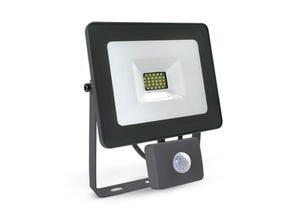 Projecteur LED gris SMD + détecteur 20W 6000°K