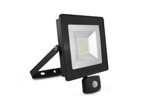 Projecteur LED gris SMD + détecteur 50W 6000K