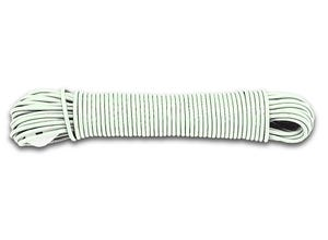 Corde à linge blanche avec tendeur 20m
