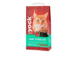 Croquettes Chat Equilibre Stérilisé - 4 Kg