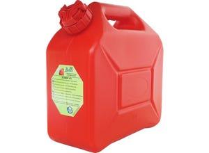 Jerrican à bec verseur 10 L rouge spécial hydrocarbures