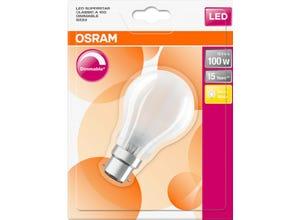 Ampoule LED Standard verre dépoli variable 12W=100 B22 chaud