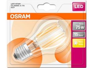 Ampoule LED Standard claire filament 8W=75 E27 chaud