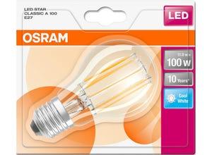 Ampoule LED Standard claire filament 11W=100 E27 froid